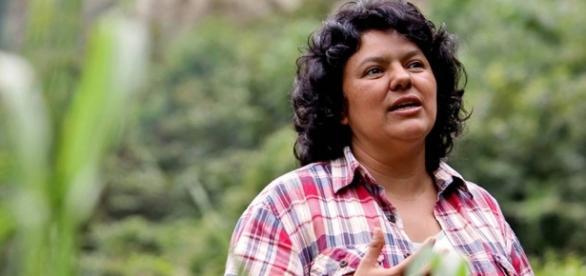 Berta Cárceres recebeu o Prêmio Goldman, honraria especial às pessoas que lutam em prol da ecologia