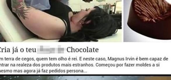 Loja fabrica chocolates em formatos bizarros e bomba na internet.