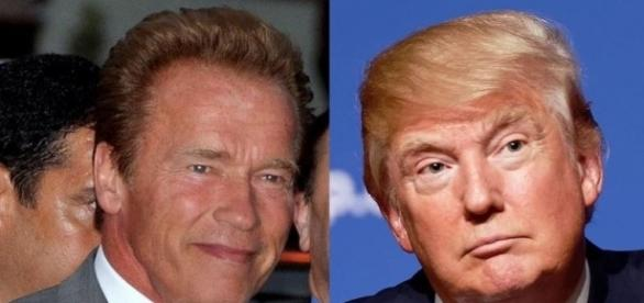 Schwarzenegger and Trump, Wikimedia Commons and Wikipedia, https://en.wikipedia.org/wiki/File:Donald_Trump_August_19,_2015_(cropped).jpg