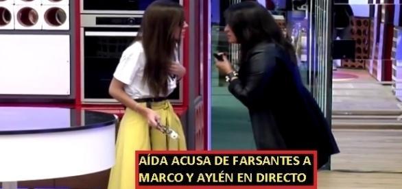Aída les ha dicho en la cara a Marco y Aylén que son unos farsantes