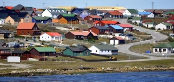 Paisagem típica das Malvinas ou Falklands