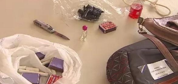 Polícia apreendeu material usado em ritual satânico