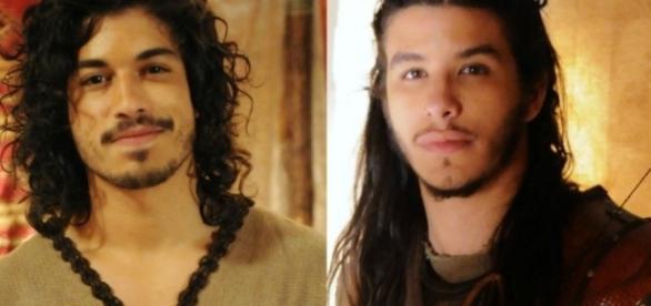 Rune e Zaqueu na novela 'A Terra Prometida' (Divulgação/Record)