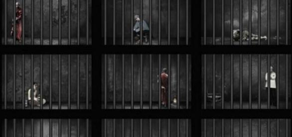 Drawing of political prisoners & prisoners of conscience (Human Rights Watch)