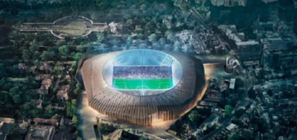 Projeção de como ficará o novo estádio do Chelsea