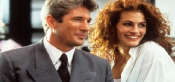 Richard Gere e Julia Robert como par romântico em 'Uma Linda Mulher' (1990)