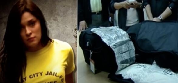 Yasmin foi pega em aeroporto ao aeroporto com quase 6 kg de cocaína na mala.