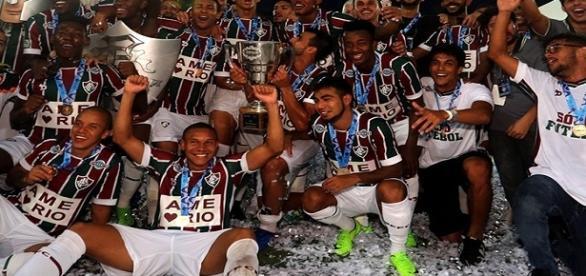 Fluminense festeja décima Taça Guanabara de sua história (Foto: Site Oficial da Conmebol)