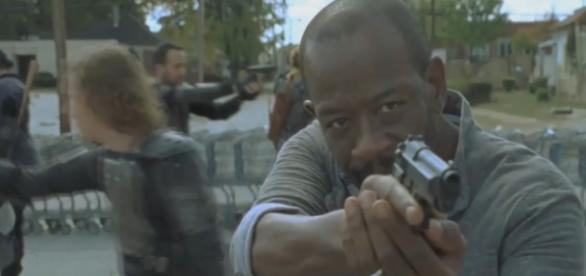 Morgan, no 13º episódio da sétima temporada de The Walking Dead