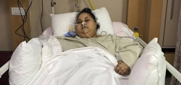 Eman Ahmed Abd El Aty chegou pesar 500 quilos