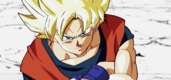 Goku enfrentando a Bergamo en el episodio 81