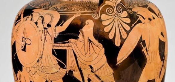Greek vase, circa. 485–480 B.C., attributed to the Berlin Painter FAIAR USE humanities.princeton.edu