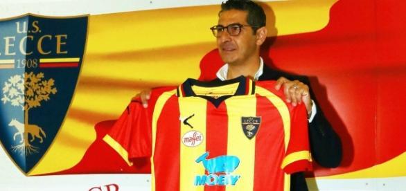 L'allenatore del Lecce, Padalino. Foto Salento Giallorosso.