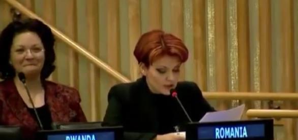 Olguta Vasilescu în discursul rușinos de la ONU