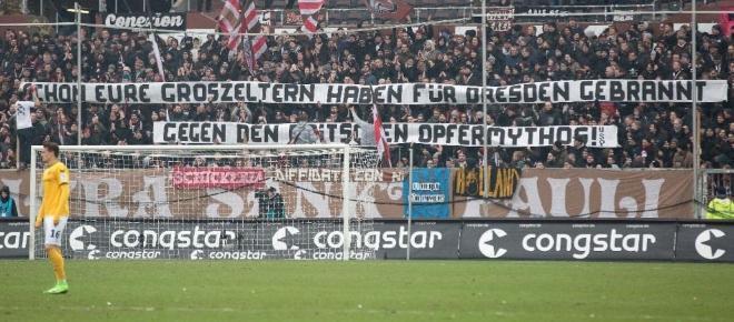 St. Pauli Fans verhöhnen Dresdner Bombenopfer - Nur 5000 Euro Strafe!