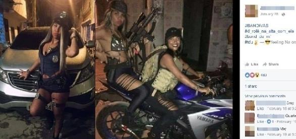 Fotos teriam sido tiradas no Complexo da Maré, no Rio