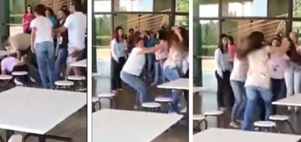Mãe participa de briga entre alunas em universidade em São Paulo.