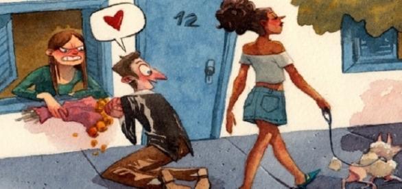 Os homens muitas vezes são infiéis até com quem amam.