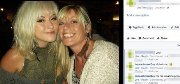 Na imagem é possível ver mãe e filha juntas antes do acidente. (Reprodução/Facebook/Arquivo Pessoal).