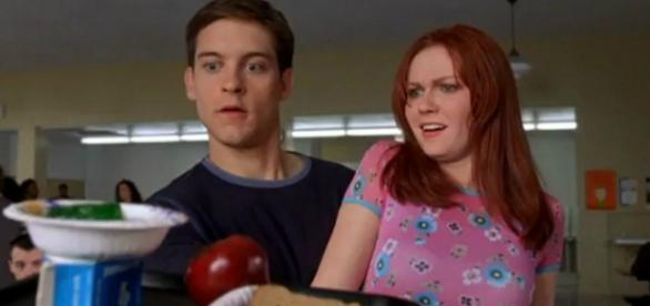"""Tobey Maguire e Kirsten Dunst em """"Homem Aranha"""": nenhum efeito especial foi usado na cena da bandeja."""