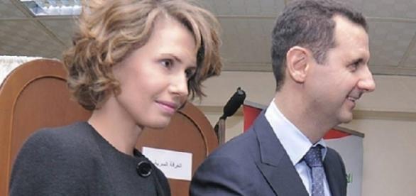 Bashar al-Assad, presidente da Síria e sua esposa Asma al-Assad