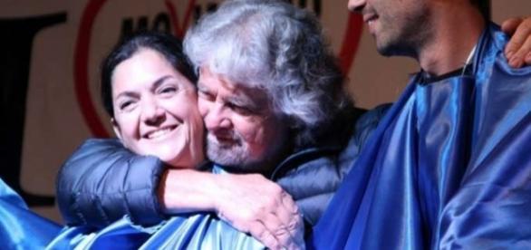 Beppe Grillo e Marika Cassimatis quando ancora andavano d'accordo