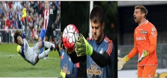 De izquierda a derecha: Ochoa, Fabiansky y Bizarri.