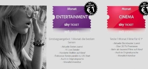 Doch, man sieht richtig: Tickets für nur 1 Euro bei Sky / Symbolbild; Fotos: Naomi Sch., Sky.de