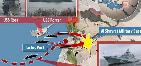 DoD releases satellite images of Syrian airfield hit by US | Daily / Photo by dailymail.co.uk via Blasting News library