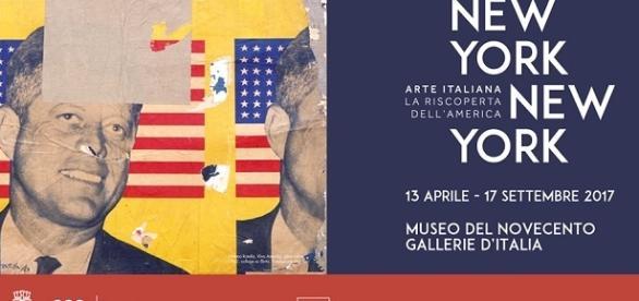 """La locandina della mostra """"New York New York""""."""