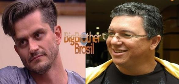 Marcos (à esquerda) revela detalhe polêmico envolvendo Boninho