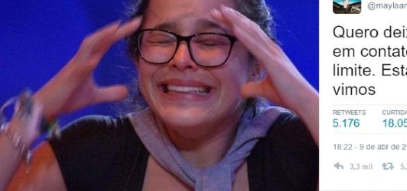 """Mayla, irmã de Emilly afirma que pai entrou em contato com a """"Globo"""" e pediu providências para a emissora"""