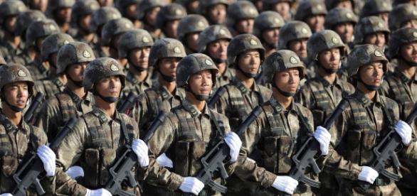 O Exército Popular de Libertação (chinês) é considerado o maior do mundo.