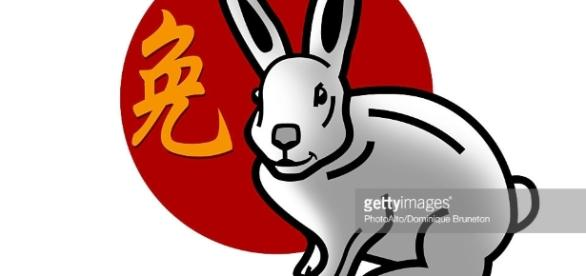 Chinese Zodiac Sign For Year Of The Rabbit Stock Illustration ... - gettyimages.com