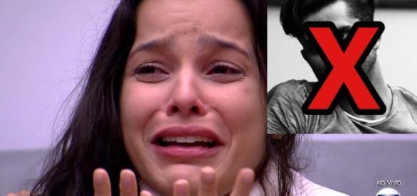 Emilly ficou inconformada com a notícia de que Marcos estava eliminado do BBB17