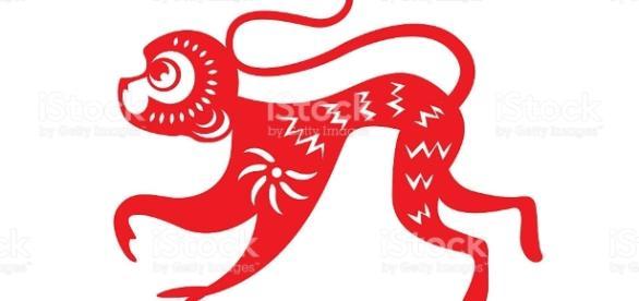Red Paper Cut A Monkey Zodiac Symbols stock vector art 478324098 ... - istockphoto.com
