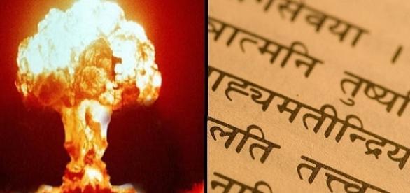 Grande Kim .. nell'era di kali .. facciamola ora e adesso li - Pagina 3 Sulla-destra-testo-in-sanscrito-sulla-sinistra-test-nucleare_1265055