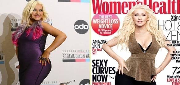 Christina Aguilera perdeu cerca de 20 kg e está com uma aparência incrível