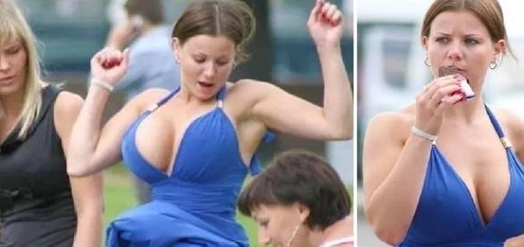 Essa jovem acabou mostrando demais no casamento de sua amiga