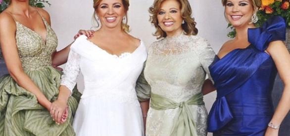 María Teresa Campos y Rocío Carrasco, espectaculares en la boda de ... - europapress.es