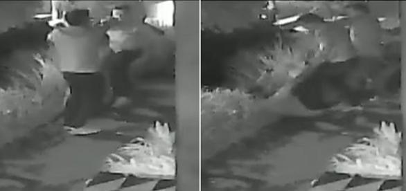 Na imagem o momento em que um dos criminosos dispara contra o homem que estava acompanhado da namorada.