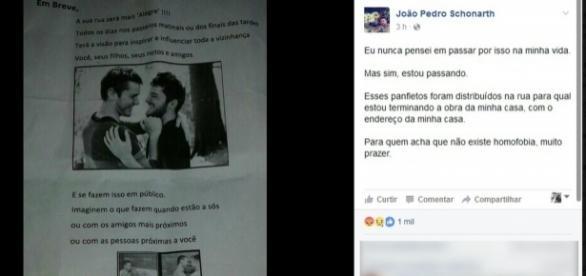 João Pedro denunciou campanha homofóbica contra ele e seu marido na vizinhança para a qual irão se mudar