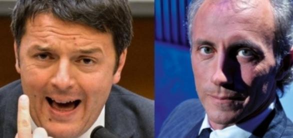 Matteo Renzi e Marco Travaglio, è scontro aperto tra i due