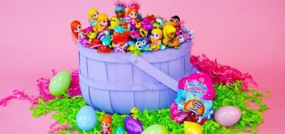 'Splashlings' are colorful figurines that are small enough to fit into Easter baskets. / Photo via Janis VanTine, GennComm PR. Used with permission.