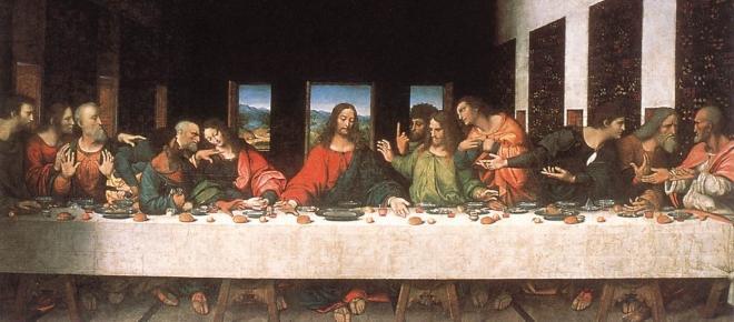 The original menu at the Last Supper