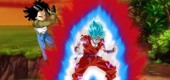 batalla de Androide 17 contra Son Goku