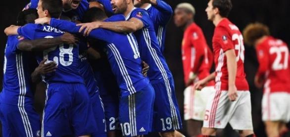 El Chelsa eliminó al Manchester United en esta edición de la FA Cup