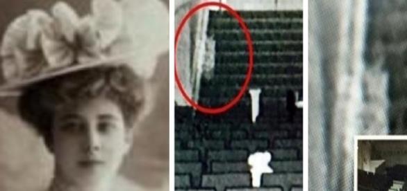 Fantasma e a aparição assustadora - Foto/Montagem