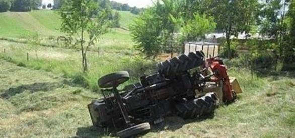 Grave incidente nelle campagne di Partanna (TP).
