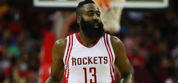 The Houston Rockets' James Harden made NBA history with his season's stats. [Image via Blasting News image library/inquisitr.com]